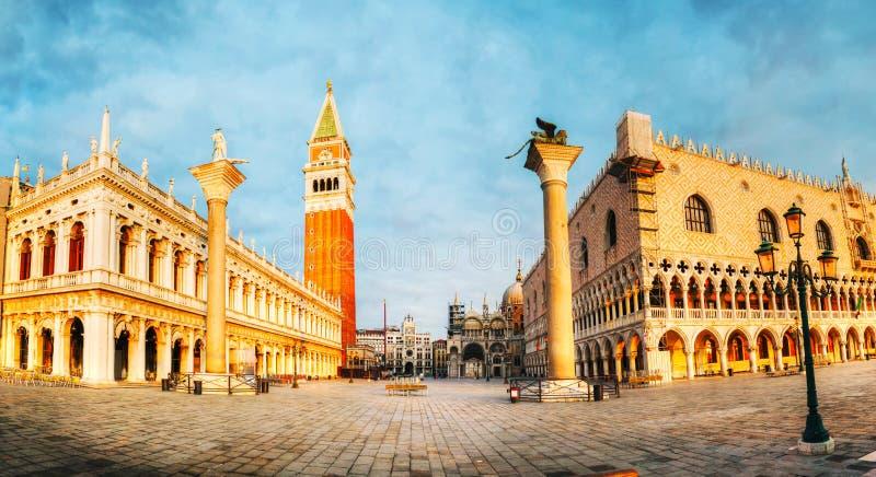 Πανοραμική άποψη στο τετράγωνο SAN Marco στη Βενετία, Ιταλία στοκ φωτογραφίες με δικαίωμα ελεύθερης χρήσης