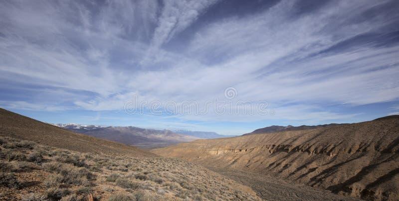 Πανοραμική άποψη σχετικά με την οροσειρά βουνά της Νεβάδας στοκ φωτογραφία με δικαίωμα ελεύθερης χρήσης