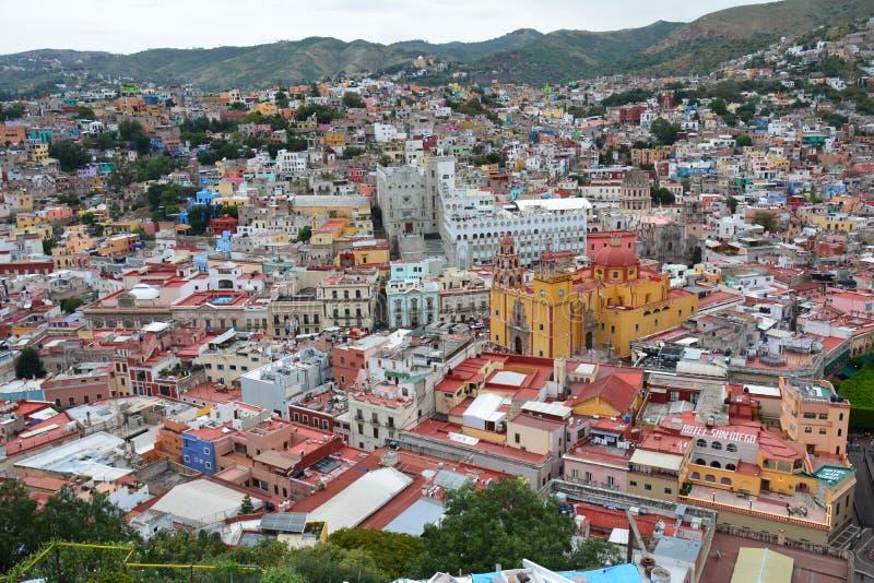 Πανοραμική άποψη σχετικά με την πόλη Guanajuato στο Μεξικό στοκ εικόνες