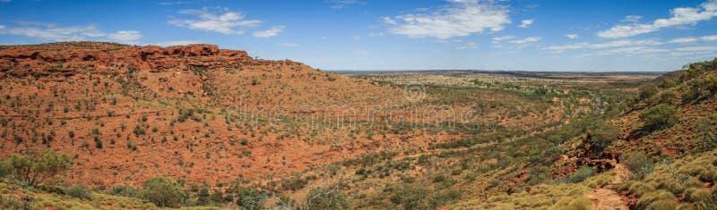 Πανοραμική άποψη σχετικά με το φαράγγι του εντυπωσιακού βασιλιά, Βόρεια Περιοχή, Αυστραλία στοκ εικόνες με δικαίωμα ελεύθερης χρήσης