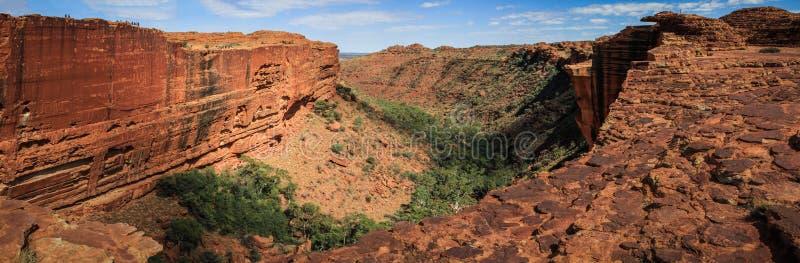 Πανοραμική άποψη σχετικά με το φαράγγι του εντυπωσιακού βασιλιά, Βόρεια Περιοχή, Αυστραλία στοκ εικόνα με δικαίωμα ελεύθερης χρήσης