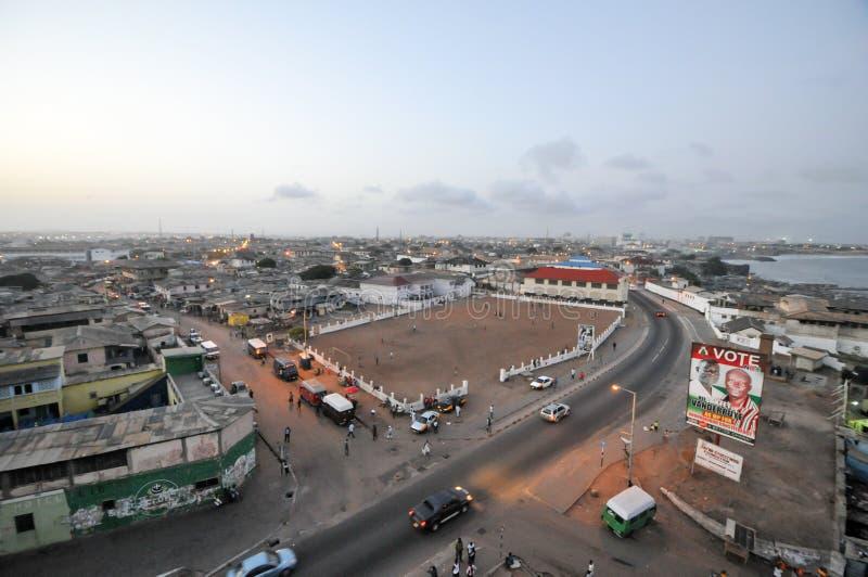 Πανοραμική άποψη της Άκρα, Γκάνα στοκ φωτογραφία