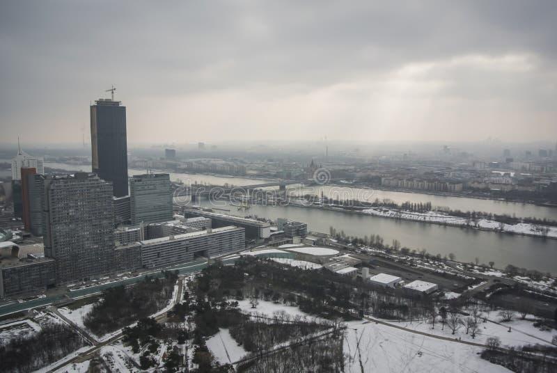 Πανοραμική άποψη της Βιέννης στοκ εικόνες με δικαίωμα ελεύθερης χρήσης
