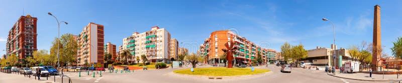 Πανοραμική άποψη της περιοχής Λα Salut Badalona. Καταλωνία στοκ εικόνες με δικαίωμα ελεύθερης χρήσης
