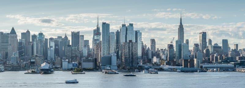 Πανοραμική άποψη της πόλης της Νέας Υόρκης, της περιφέρειας του κέντρου στοκ φωτογραφίες με δικαίωμα ελεύθερης χρήσης