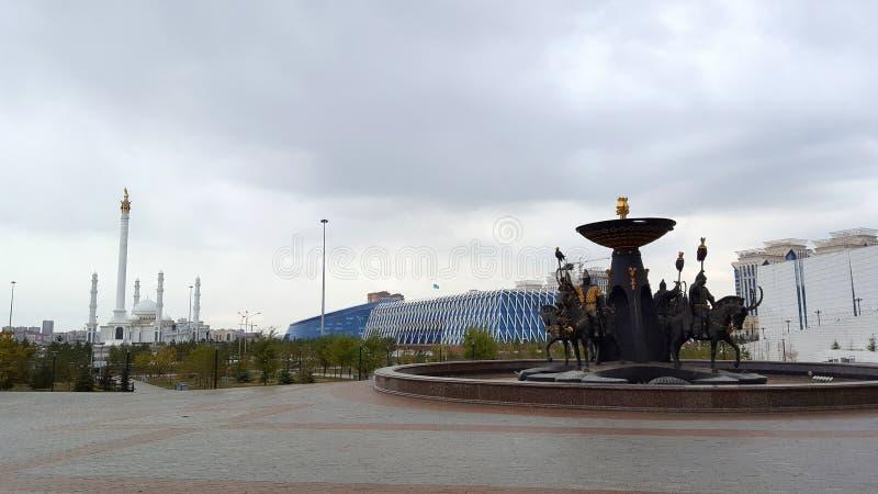 Πανοραμική άποψη της πόλης Astana, Astana, Καζακστάν στοκ εικόνες