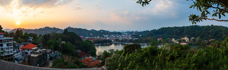 Πανοραμική άποψη της πόλης Kandy στη Σρι Λάνκα στοκ φωτογραφία με δικαίωμα ελεύθερης χρήσης