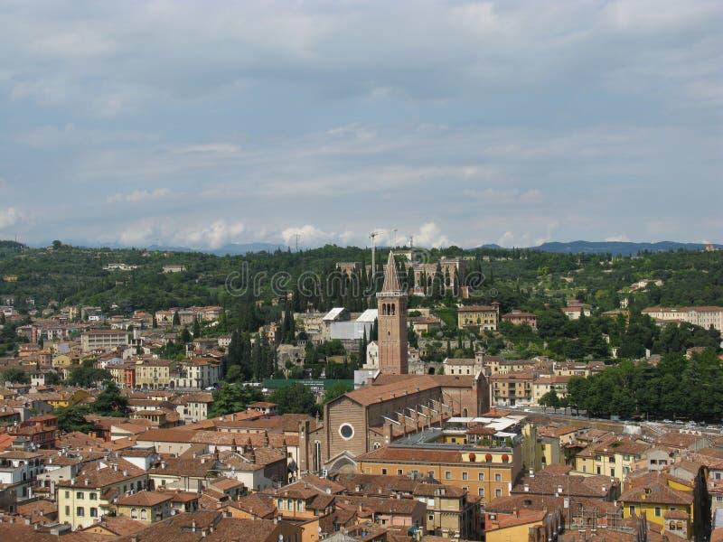 Πανοραμική άποψη της πόλης Βερόνα στην Ιταλία στοκ φωτογραφία με δικαίωμα ελεύθερης χρήσης