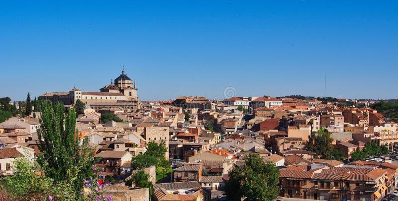 Πανοραμική άποψη του ιστορικού Τολέδο, Ισπανία στοκ εικόνα