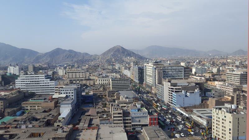 Πανοραμική άποψη του κέντρου της πόλης της Λίμα στοκ εικόνες με δικαίωμα ελεύθερης χρήσης