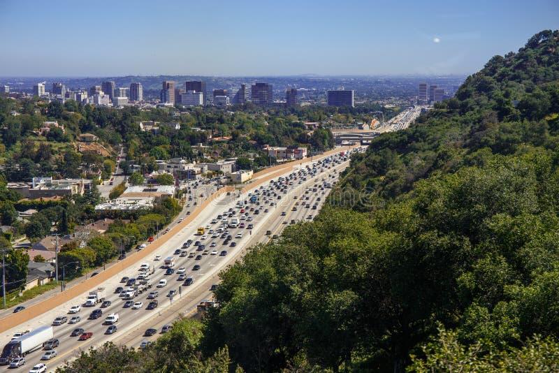 Πανοραμική άποψη του Λος Άντζελες Εθνική οδός που περιλαμβάνεται στην εικόνα στοκ εικόνες