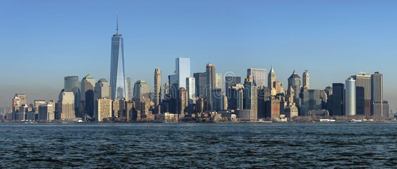 Πανοραμική άποψη του Μανχάταν, Νέα Υόρκη στοκ εικόνα με δικαίωμα ελεύθερης χρήσης