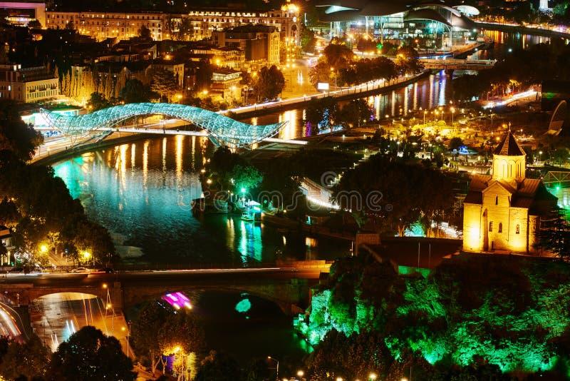 Πανοραμική άποψη του Tbilisi στη Γεωργία, Ευρώπη στοκ φωτογραφίες με δικαίωμα ελεύθερης χρήσης