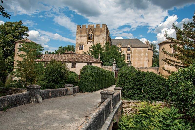 Πανοραμική άποψη Allemagne†«en†«Προβηγκία Castle, κοντά στο χωριό του ίδιου ονόματος στοκ φωτογραφίες