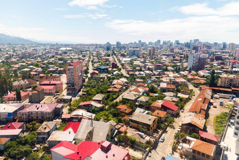 Πανοραμική άποψη Batumi, Γεωργία Θερινή άποψη κεντρικός Batumi - κεφάλαιο Adjara, Γεωργία στοκ εικόνες