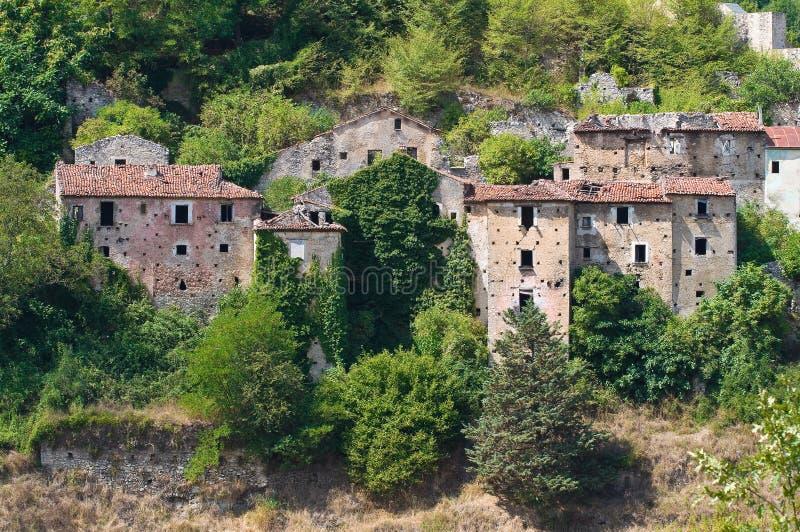 Πανοραμική άποψη Brienza Βασιλικάτα Ιταλία στοκ εικόνα