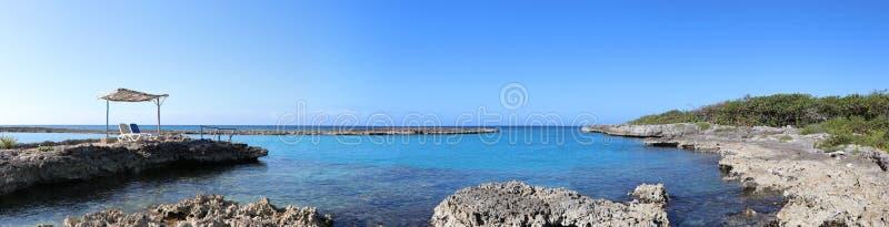 Πανοραμική άποψη Caleta Buena, κοντά σε Playa Giron που βρίσκεται στον κόλπο των χοίρων ή Bahia de cochinos, Κούβα στοκ φωτογραφία με δικαίωμα ελεύθερης χρήσης