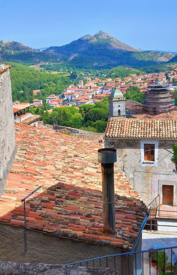 Πανοραμική άποψη Morano Calabro Καλαβρία Ιταλία στοκ εικόνα
