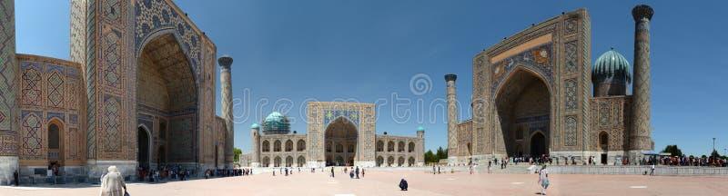 Πανοραμική άποψη Registan Σάμαρκαντ E στοκ εικόνες με δικαίωμα ελεύθερης χρήσης