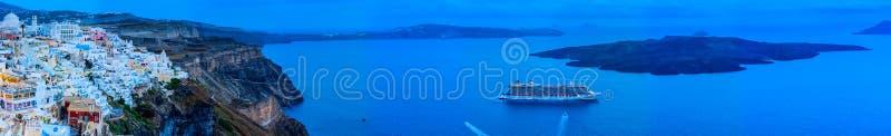 Πανοραμική άποψη Santorini στοκ φωτογραφίες με δικαίωμα ελεύθερης χρήσης