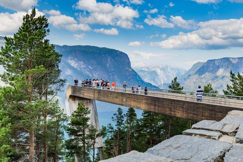 Πανοραμική άποψη Stegastein σε Aurland, Sogn og Fjordane, Νορβηγία στοκ εικόνα με δικαίωμα ελεύθερης χρήσης
