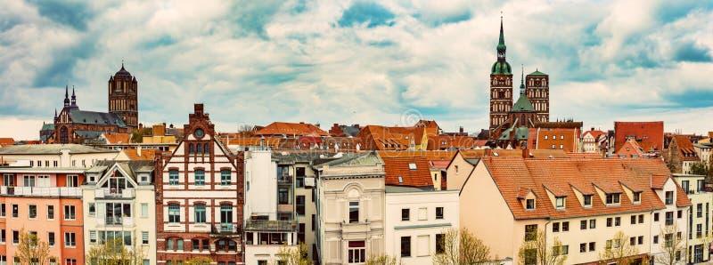 Πανοραμική άποψη Stralsund, Γερμανία στοκ φωτογραφία
