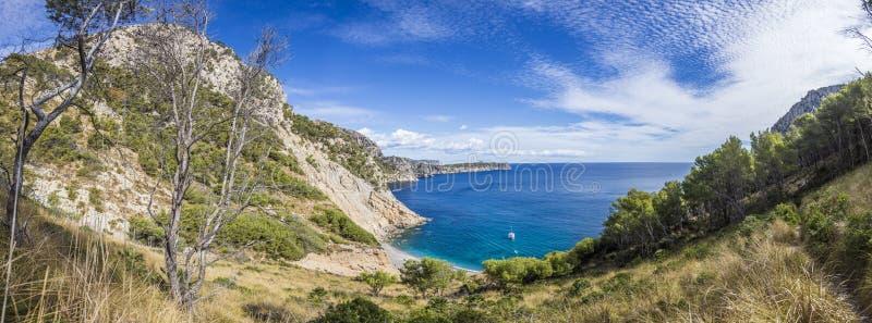 Πανοραμική εικόνα καλό Platja des Coll Baix στοκ εικόνες με δικαίωμα ελεύθερης χρήσης