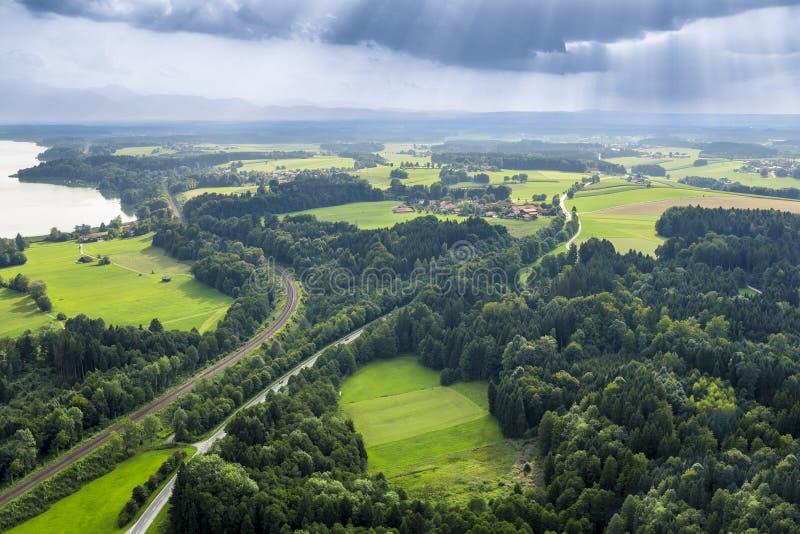 Πανοραμική εναέρια άποψη Βαυαρία στοκ φωτογραφία με δικαίωμα ελεύθερης χρήσης