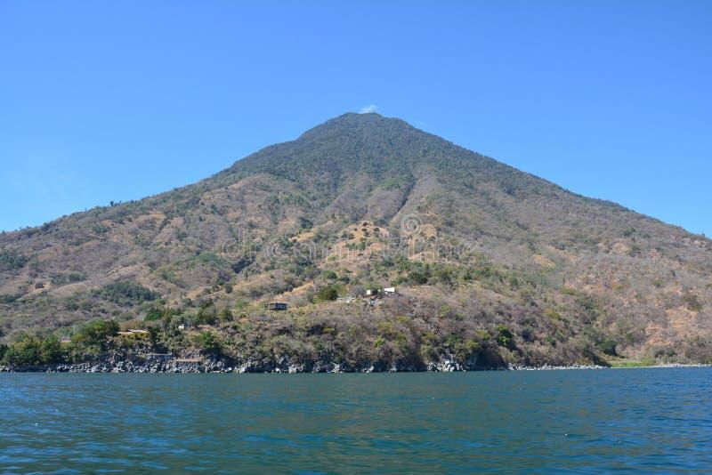 Πανοραμική λίμνη Γουατεμάλα Atitlan τοπίων στοκ φωτογραφία με δικαίωμα ελεύθερης χρήσης