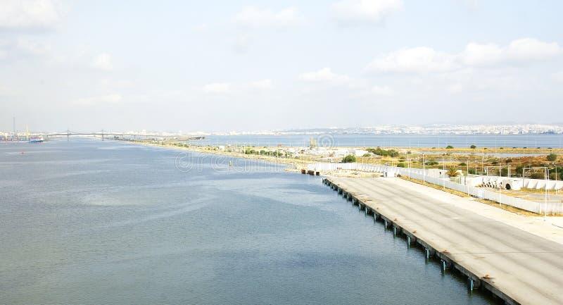 Πανοραμική πρόσδεση αποβαθρών στο λιμένα του Λα Goulette στοκ φωτογραφία με δικαίωμα ελεύθερης χρήσης