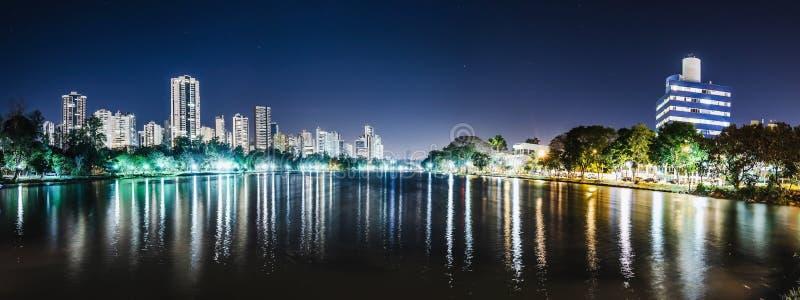 Πανοραμική φωτογραφία του Lago Igapo, Londrina - Παράνα, Βραζιλία στοκ φωτογραφία με δικαίωμα ελεύθερης χρήσης
