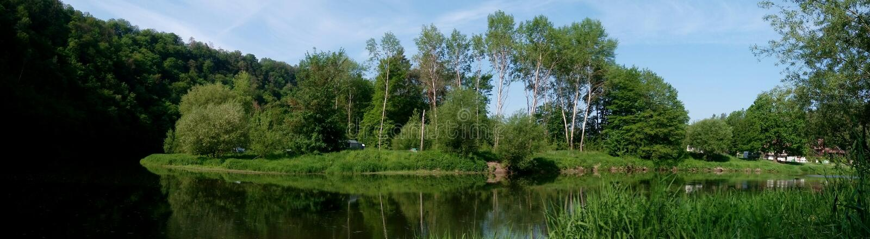 Πανοραμική φωτογραφία των τοπίων μιας Δημοκρατίας της Τσεχίας στοκ εικόνα