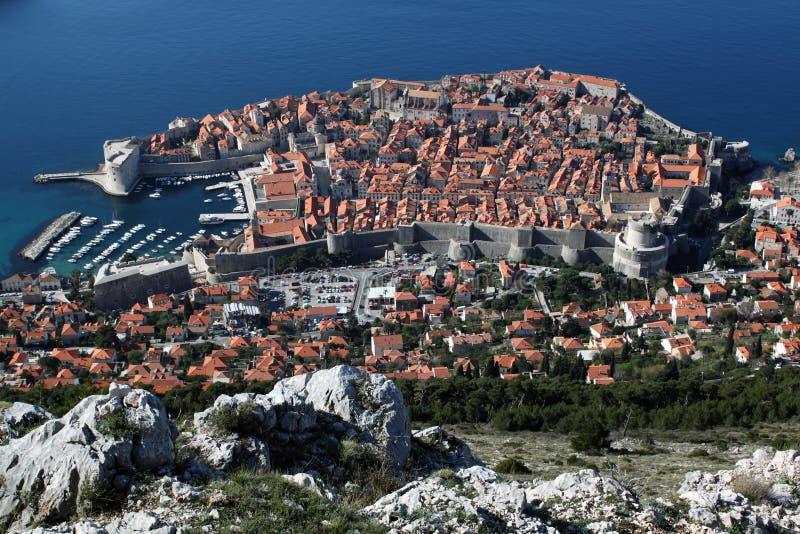 πανοραμική όψη της Κροατίας πόλεων dubrovnik στοκ φωτογραφία με δικαίωμα ελεύθερης χρήσης