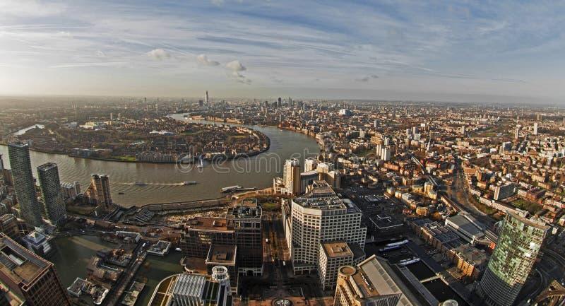 πανοραμική όψη του Λονδίν&omicr στοκ φωτογραφίες με δικαίωμα ελεύθερης χρήσης