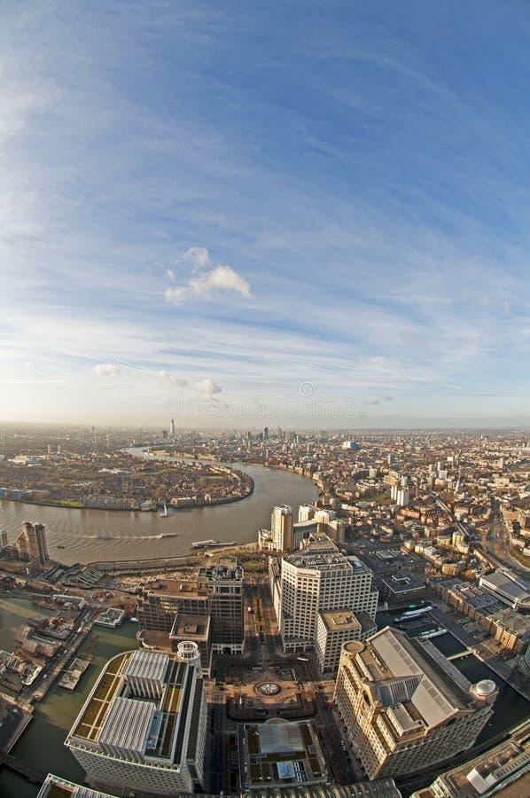 πανοραμική όψη του Λονδίν&omicr στοκ εικόνες
