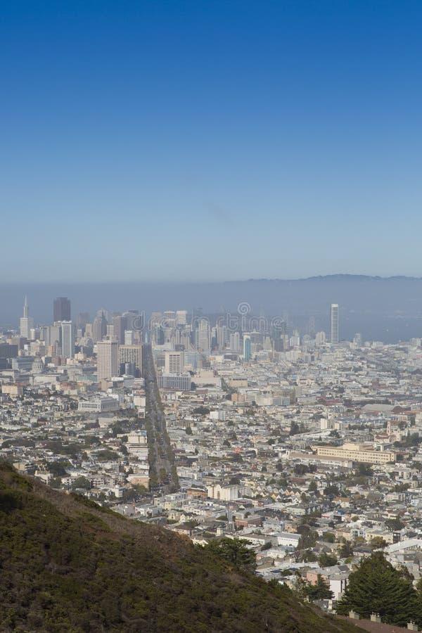 Πανοραμική όψη του Σαν Φρανσίσκο στοκ εικόνες