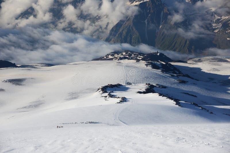 πανοραμική όψη elbrus στοκ εικόνες με δικαίωμα ελεύθερης χρήσης