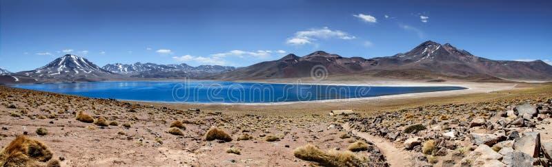 Πανοραμική όψη Laguna Miscanti - Atacama στοκ φωτογραφίες