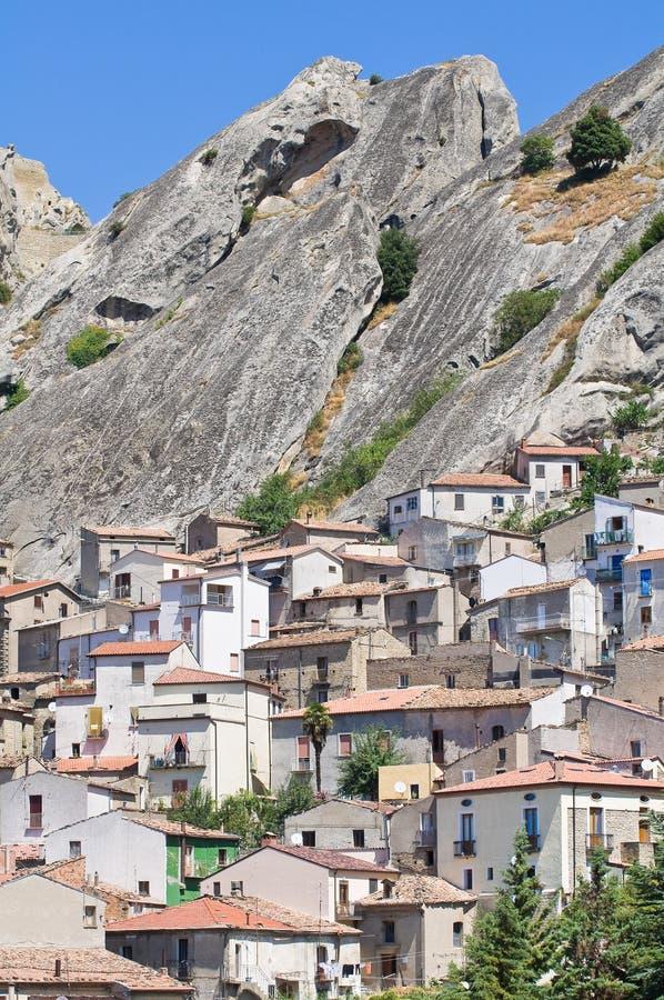 Πανοραμική όψη Pietrapertosa. Βασιλικάτα. Ιταλία στοκ φωτογραφία με δικαίωμα ελεύθερης χρήσης