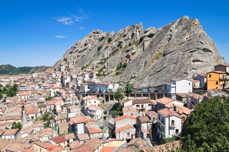 πανοραμική όψη pietrapertosa του Βασιλικάτα Ιταλία στοκ εικόνες με δικαίωμα ελεύθερης χρήσης