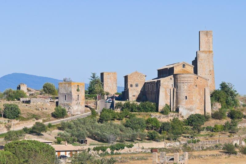 Πανοραμική όψη Tuscania. Λάτσιο. Ιταλία. στοκ φωτογραφία
