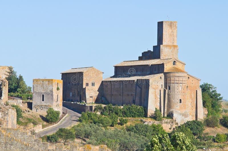 Πανοραμική όψη Tuscania. Λάτσιο. Ιταλία. στοκ φωτογραφία με δικαίωμα ελεύθερης χρήσης
