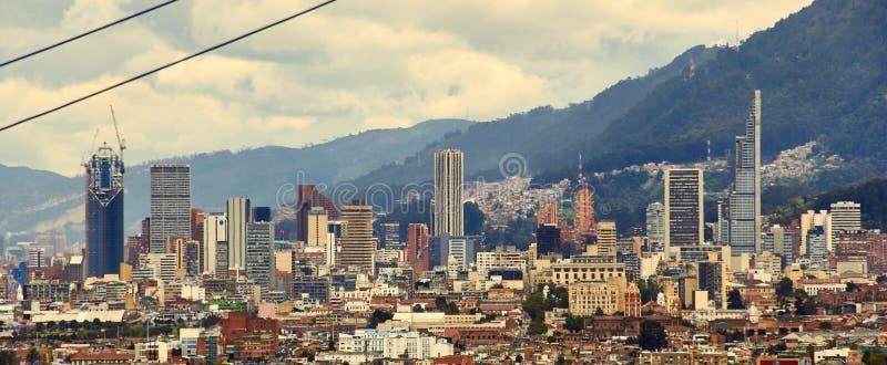 Πανοραμικός του κέντρου πόλεων της Μπογκοτά στοκ φωτογραφία με δικαίωμα ελεύθερης χρήσης