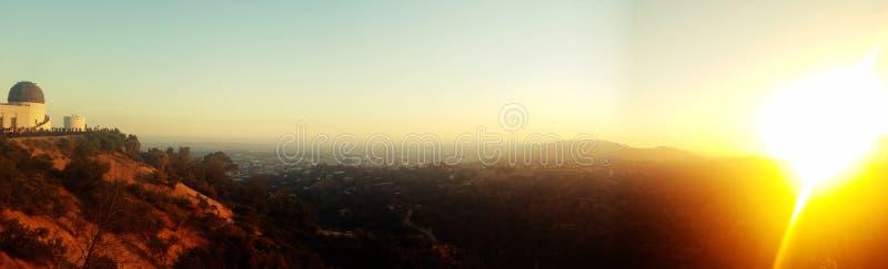 πανοραμικό ηλιοβασίλεμ&alph στοκ εικόνες με δικαίωμα ελεύθερης χρήσης