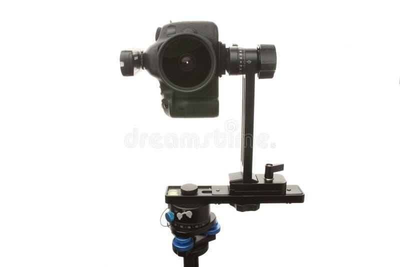 Πανοραμικό κεφάλι για ένα τρίποδο για την παραγωγή εικονικών γύρων κα στοκ φωτογραφίες με δικαίωμα ελεύθερης χρήσης
