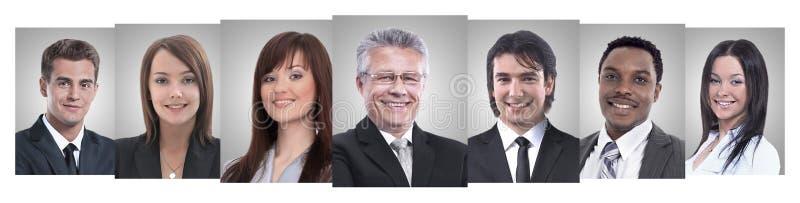 Πανοραμικό κολάζ των πορτρέτων των νέων επιχειρηματιών στοκ φωτογραφία με δικαίωμα ελεύθερης χρήσης
