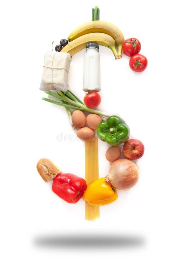 Παντοπωλεία τροφίμων σημαδιών δολαρίων στοκ εικόνες