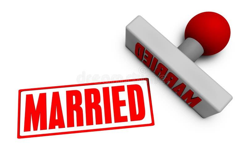 Παντρεμένο γραμματόσημο διανυσματική απεικόνιση