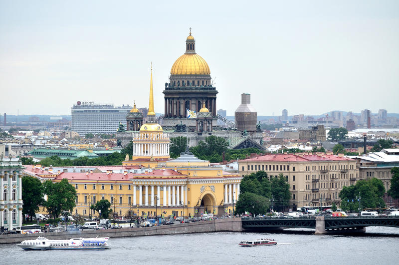 Πανόραμα Αγίου Πετρούπολη - πανοραμική θέα στοκ εικόνα