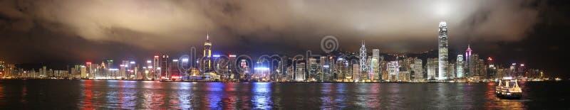 πανόραμα Βικτώρια νύχτας το& στοκ φωτογραφία με δικαίωμα ελεύθερης χρήσης